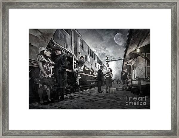 Midnite Run Framed Print