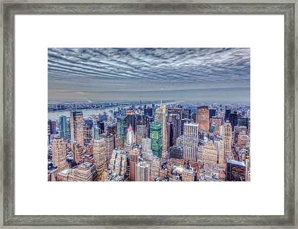Midtown Manhattan From Above Framed Print