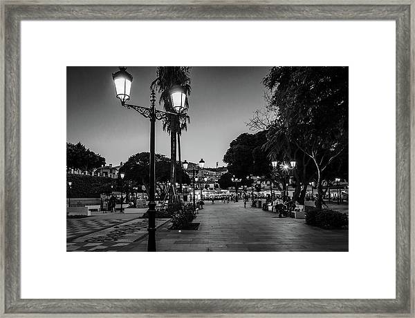 Mijas Main Square Framed Print