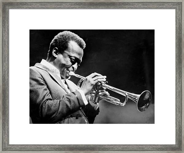 Miles Davis Performs At The Newport Framed Print