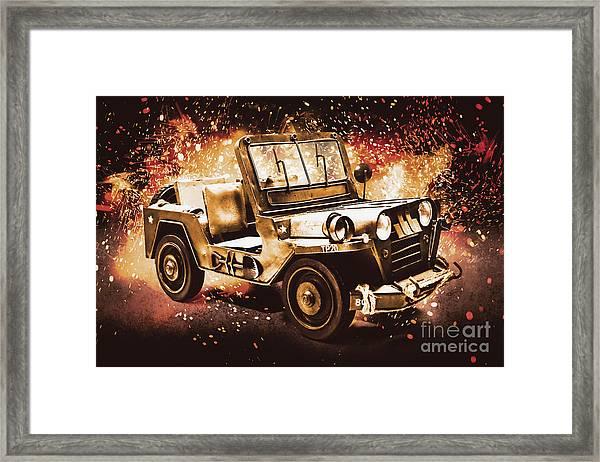 Military Machine Framed Print