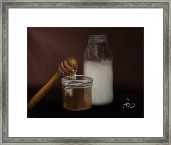 Framed Print featuring the painting Milk And Honey  by Fe Jones