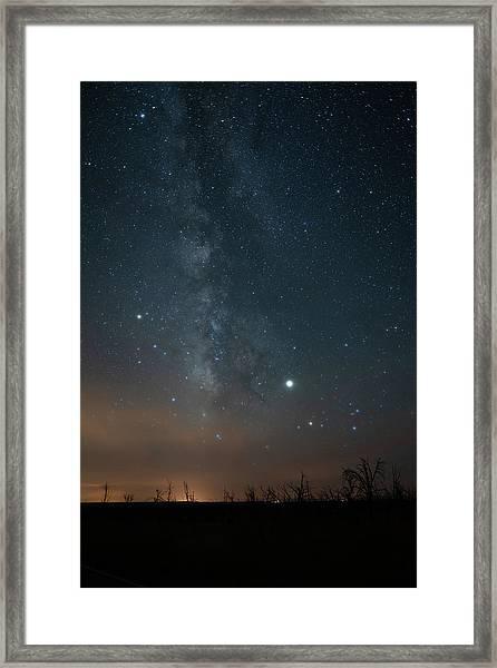 Milky Mesa Framed Print