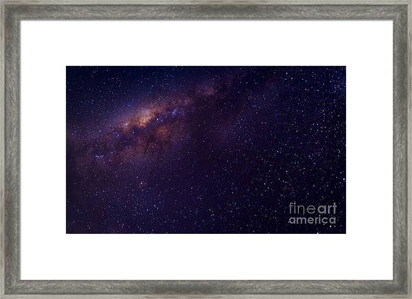Milky Way Galaxy With Stars And Space Framed Print
