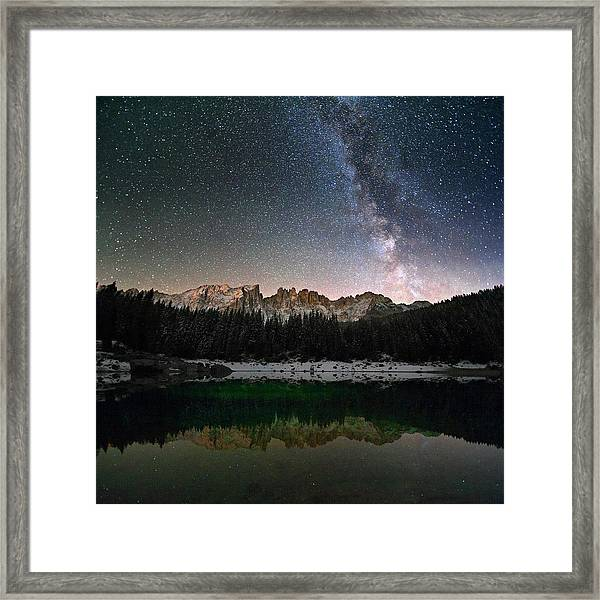 Milky Way In The Alps Framed Print