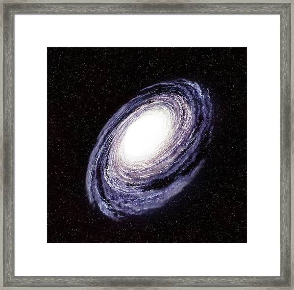 Milky Way In The Galaxy Or Universe Framed Print by Infospeed