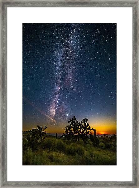 Milky Way Moonset Framed Print by Matt Deifer