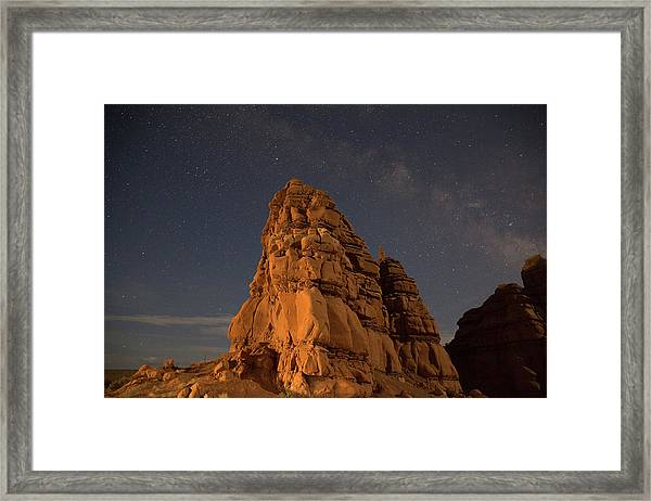 Milky Way On The Rocks Framed Print
