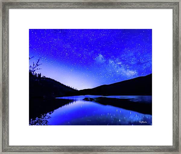 Milky Way Over Springtime Echo Lake Framed Print