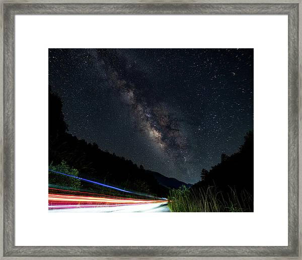 Framed Print featuring the photograph Milky Way Over The South Road by William Dickman