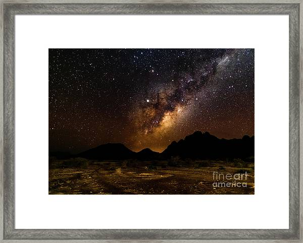 Milkyway Over Spitzkoppe 2, Namibia Framed Print