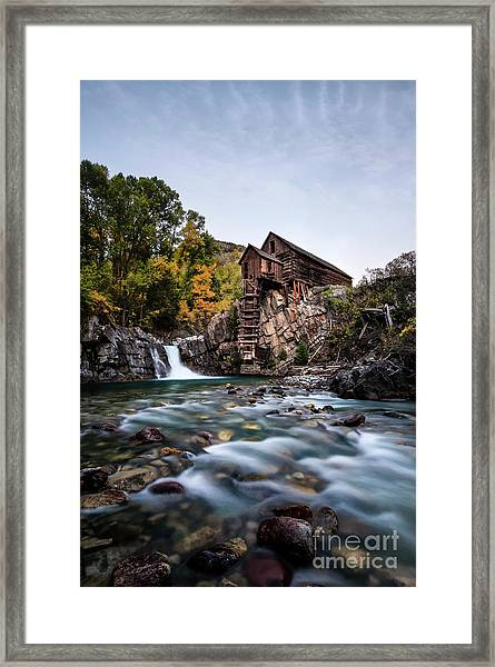 Mill On Crystal River Framed Print