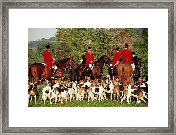 Millbrook Hunt Framed Print by Slim Aarons