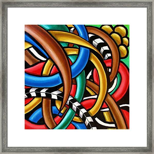 Colorful Abstract Art Painting Chromatic Intuitive Energy Art - Ai P. Nilson Framed Print