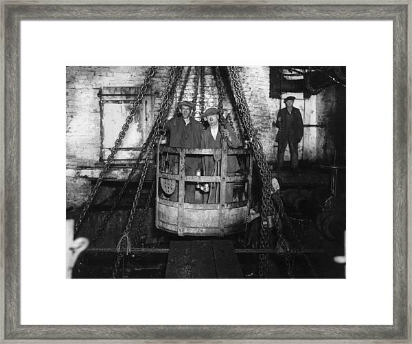 Miners By Sasha Framed Print