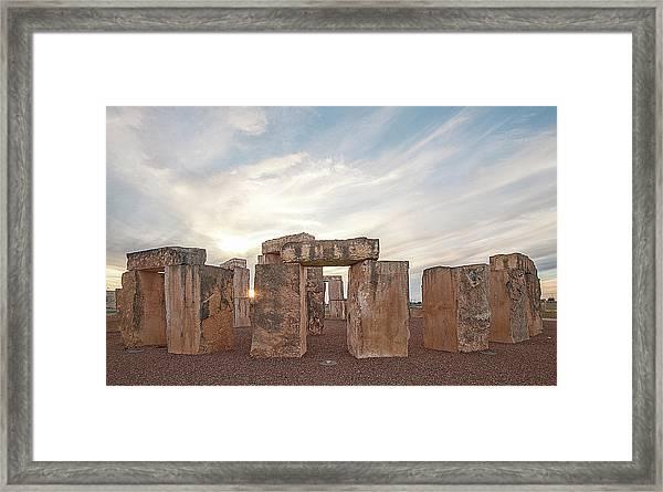 Mini Stonehenge Framed Print