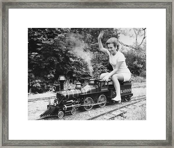 Miniature Train Framed Print