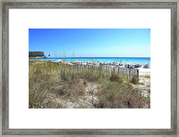 Minorca Isle Beach Framed Print