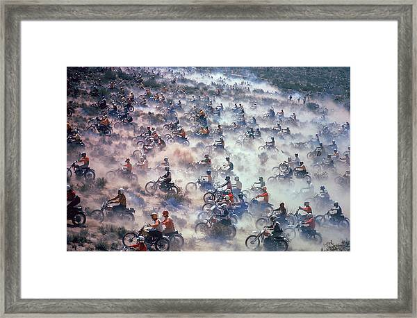 Mint 400 Motocross Race Framed Print by Bill Eppridge