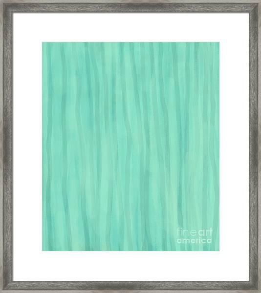 Mint Green Lines Framed Print