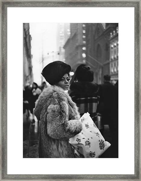 Miss Ross Goes Shopping Framed Print by Michael Ochs Archives