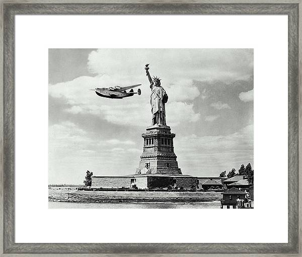 Missed Liberty Framed Print