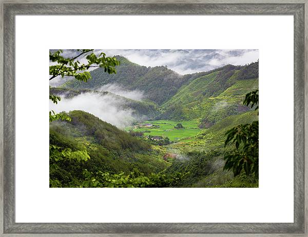Framed Print featuring the photograph Misty Farm I by William Dickman