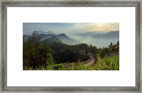 Framed Print featuring the photograph Misty Mountain Morning by William Dickman