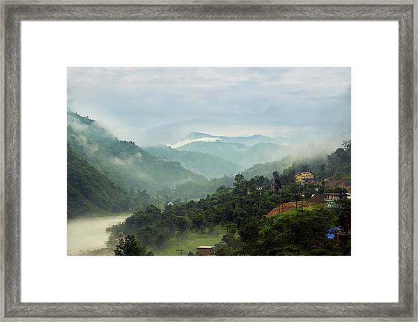 Framed Print featuring the photograph Misty Mountains by Whitney Goodey