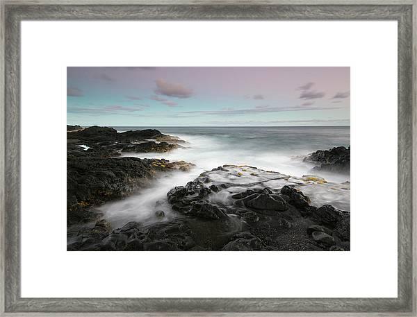 Misty Surf, Puna Coast Framed Print by Don Smith