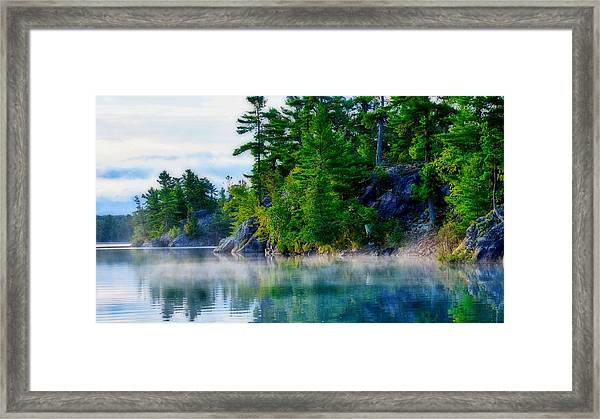 Framed Print featuring the photograph Misty Waters by Bryan Smith