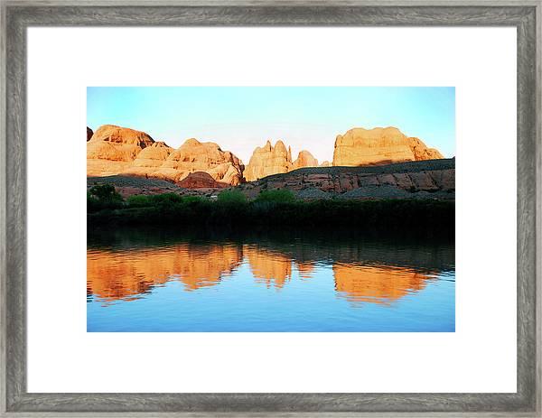 Moab Rim Trail Framed Print
