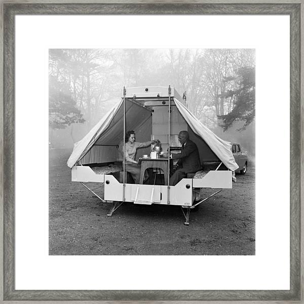 Mobile Home Framed Print by Harry Kerr