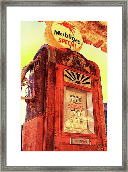 Mobilgas Special - Vintage Wayne Pump Framed Print