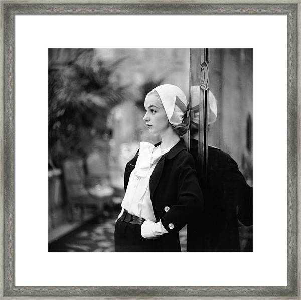 Model In Suit Framed Print by Gordon Parks