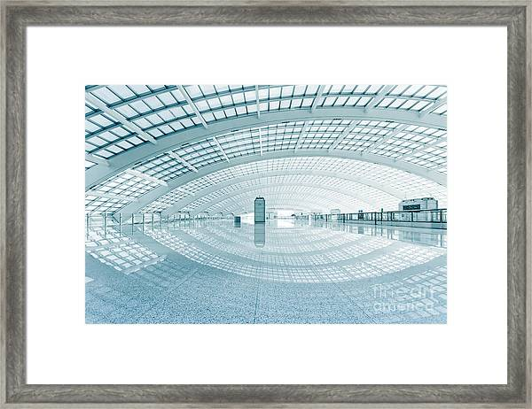 Modern Hall Of Subway Station  At T3 Framed Print by Ssguy