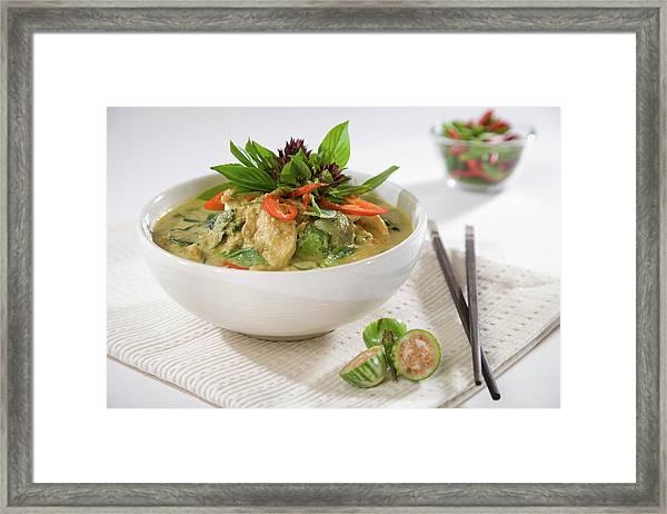 Modern Thai Green Curry Framed Print