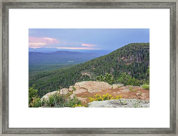 Framed Print featuring the photograph Mogollon Rim Sunset by Dawn Richards