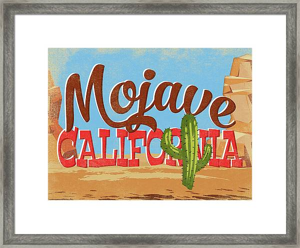 Mojave California Cartoon Desert Framed Print