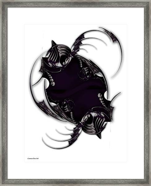 Momentary Impression Of Undefined Abstraction Framed Print