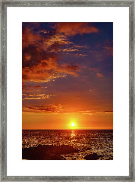 Monday Sunset Framed Print