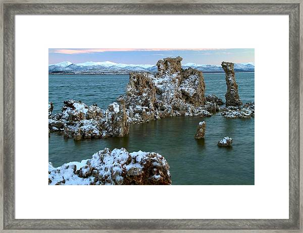 Mono Lake Tufa Towers Sunrise Framed Print