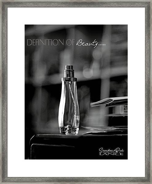 Monochrome Definition Of Beauty Framed Print