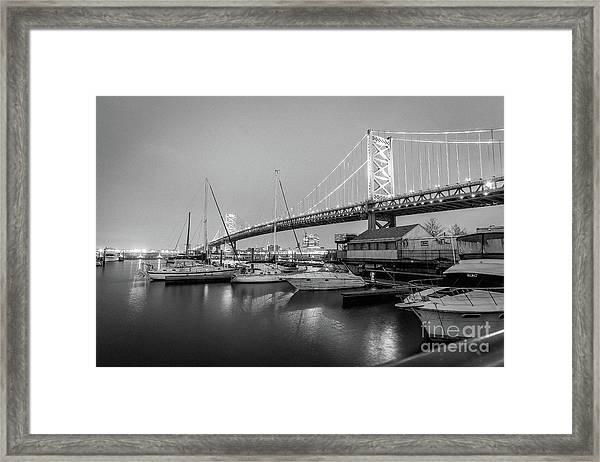 Monochrome Marina  Framed Print