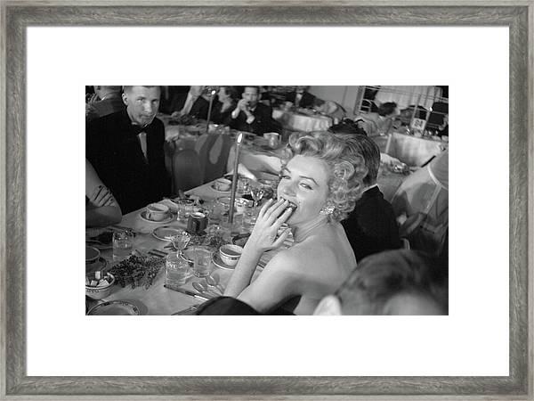 Monroe Attends Fpah Awards Framed Print