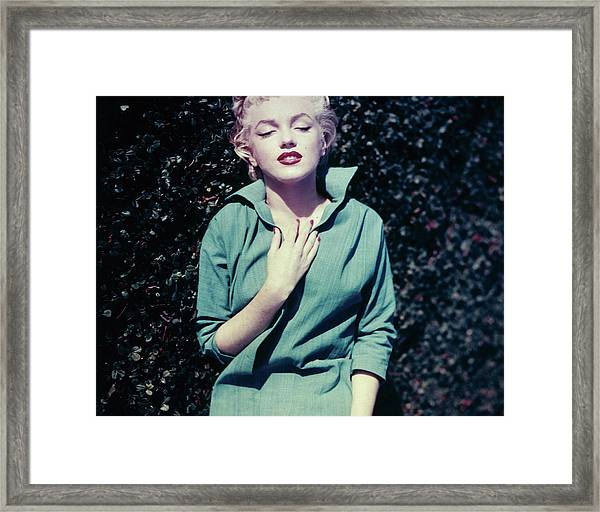 Monroe In Green Framed Print