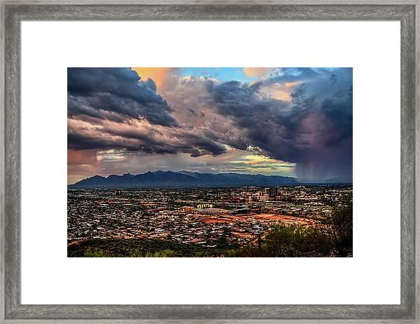 Monsoon Hits Tucson Framed Print