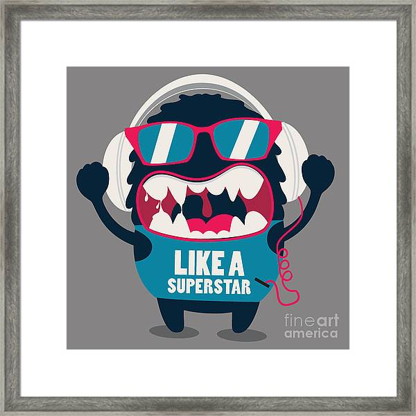 Monster Graphic Framed Print