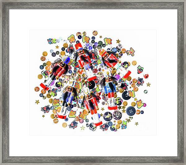Monster Toy Soldiers Framed Print