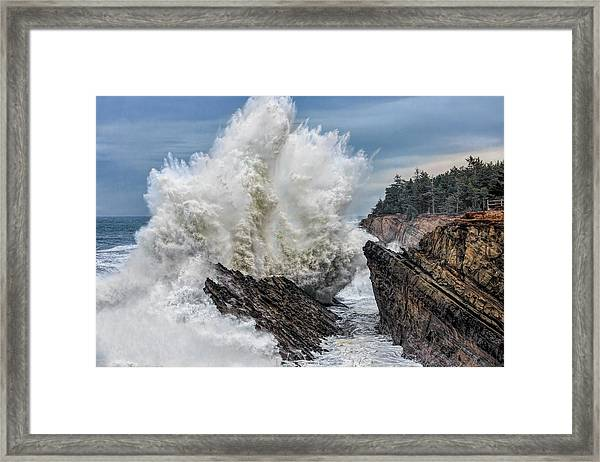 Monster Wave Framed Print